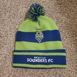 Seattle Sounders beanie and hat lot